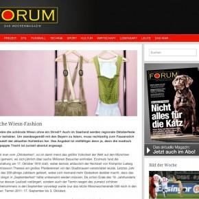 "Forum Magazin ""Fesche Wiesn Fashion"" - Herbst 2011"