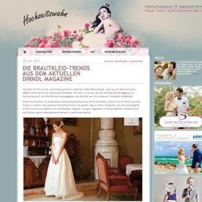 """Hochzeitswahn """"Brautkleid Trends aus dem aktuellen Dirndl Magazine"""" - 09. Juli 2012"""